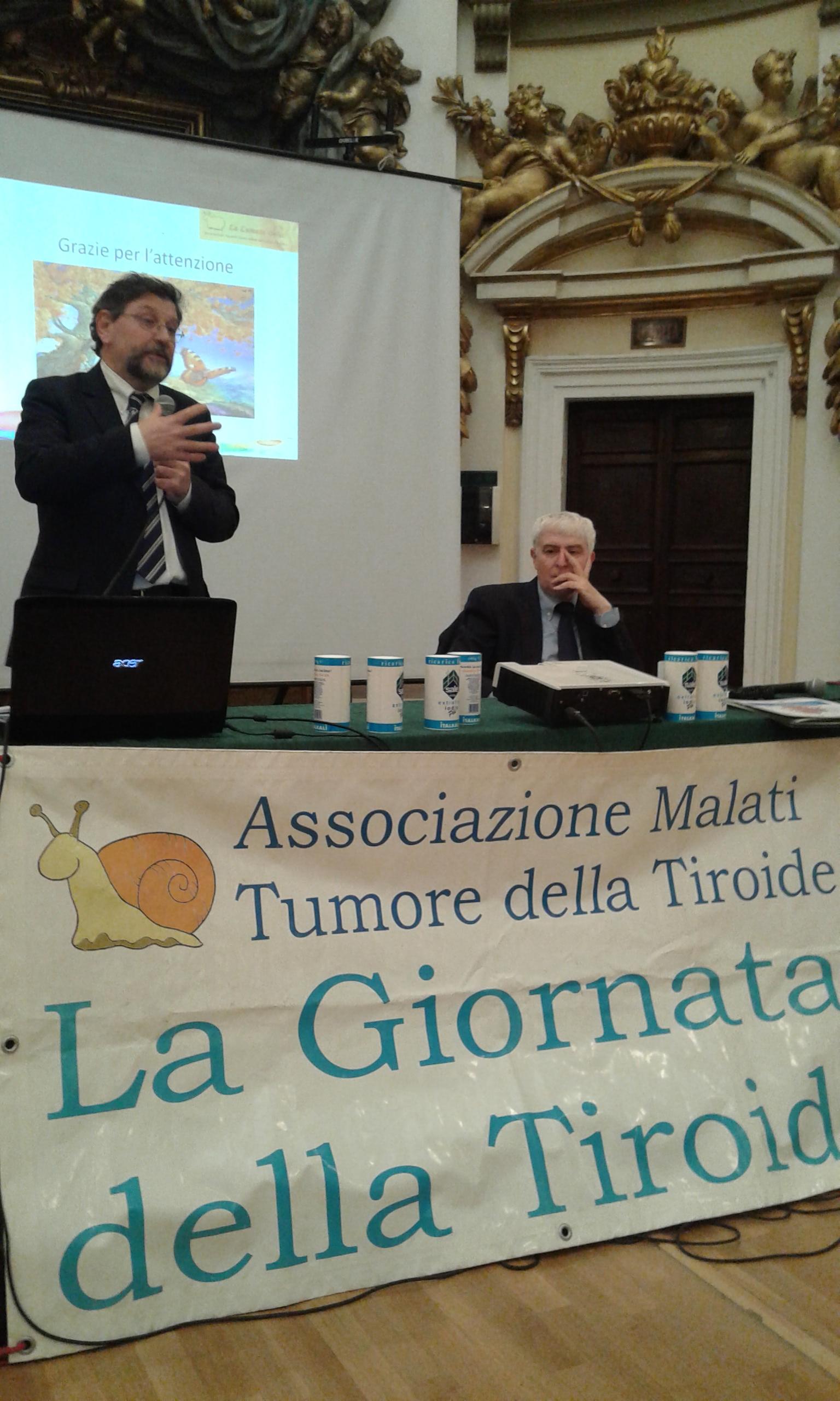 Attività dell'associazione La Lumaca ONLUS di Perugia per la settimana Mondialle della Tiroide 2016